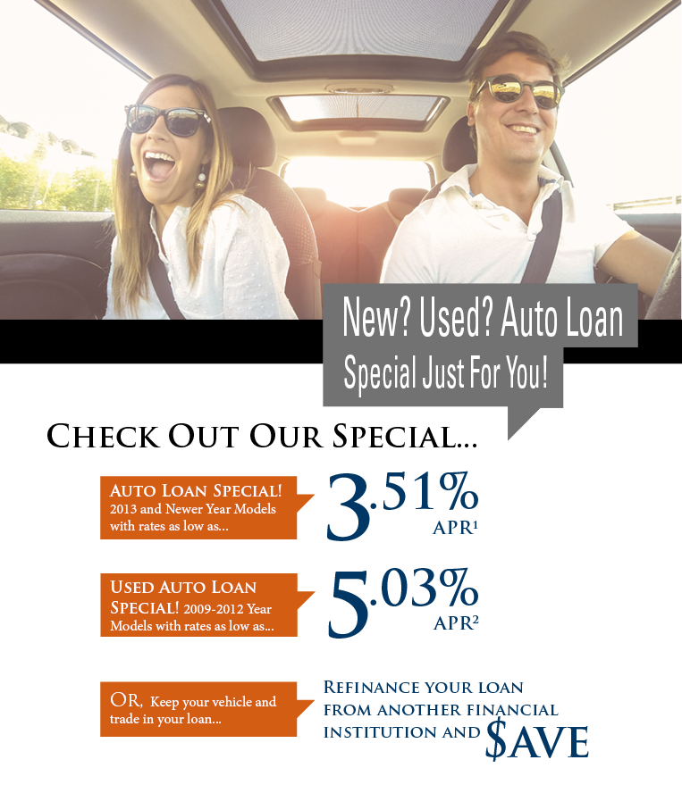 Check Out Our Auto Loan Special!