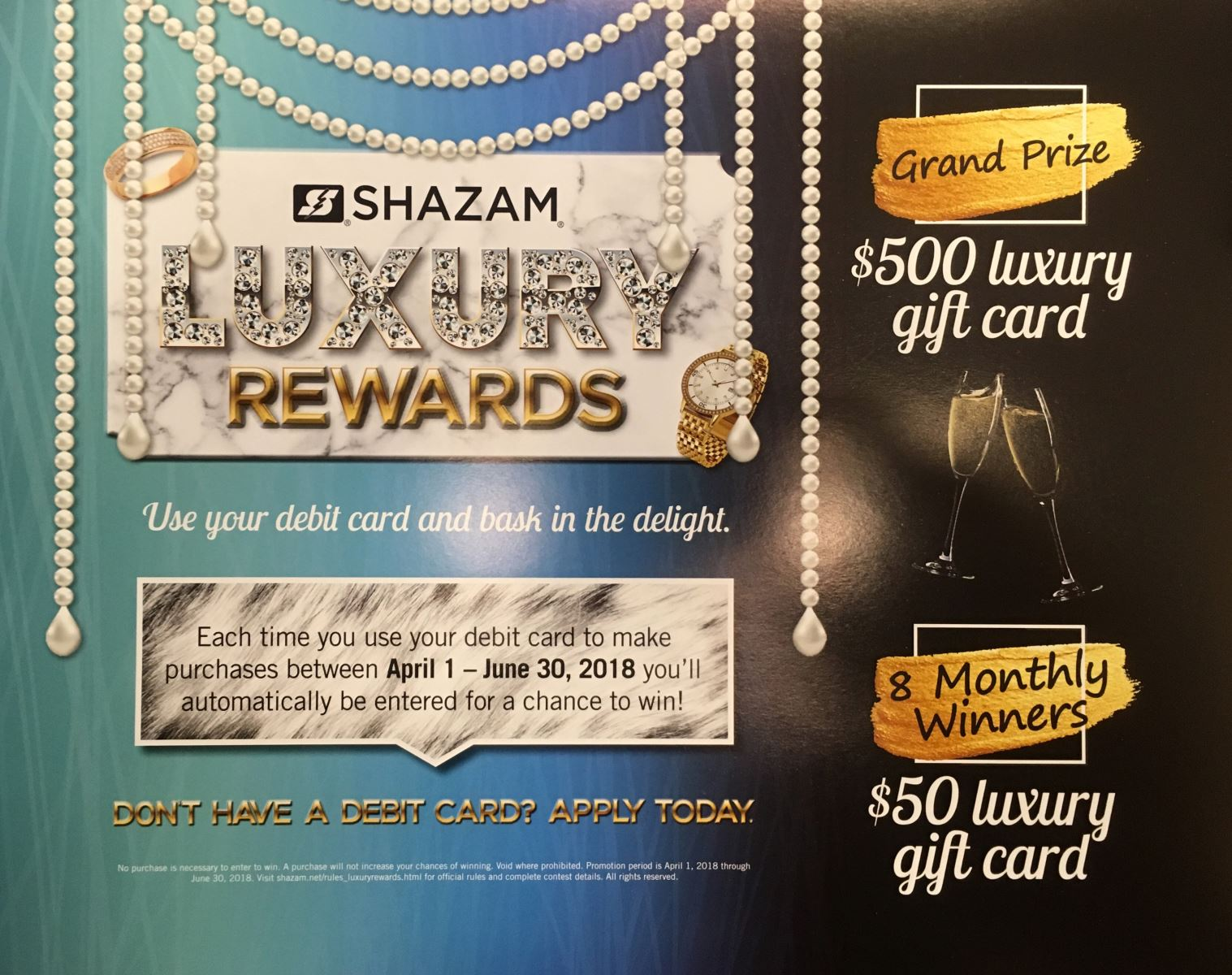Shazam debit cards offers rewards with grand prize