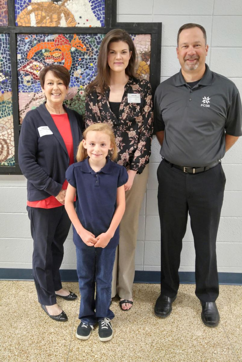 Photo of Money Smart poster contest winner from East Union