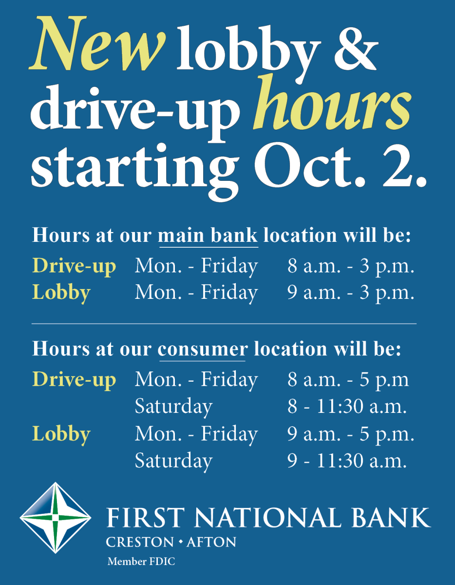 New hours at 2 locations